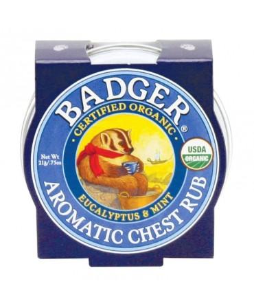 Mini Balsam Aromatic Pentru Desfundarea Nasului Si Respiratie Regulata, Chest Rub, 21 g, Badger