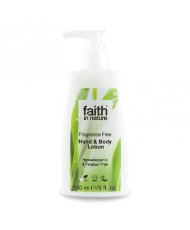 Lotiune Pentru Maini și Corp Fara Miros, 150 ml, Faith in Nature