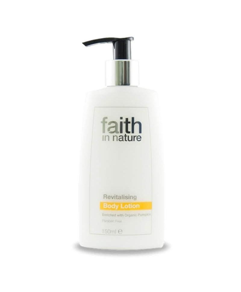 Lotiune de Corp Revitalizanta cu Ulei de Dovleac Organic, 150 ml, Faith in Nature