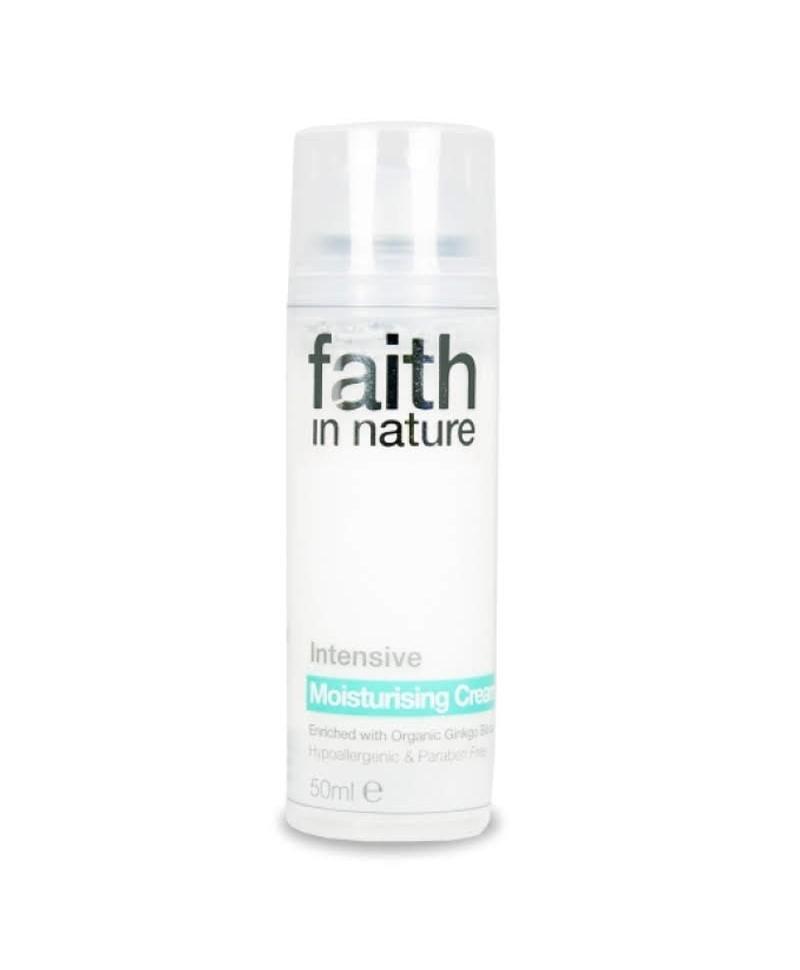 Crema Intensiv Hidratanta de Fata cu Ginkgo Biloba, 50 ml, Faith in Nature