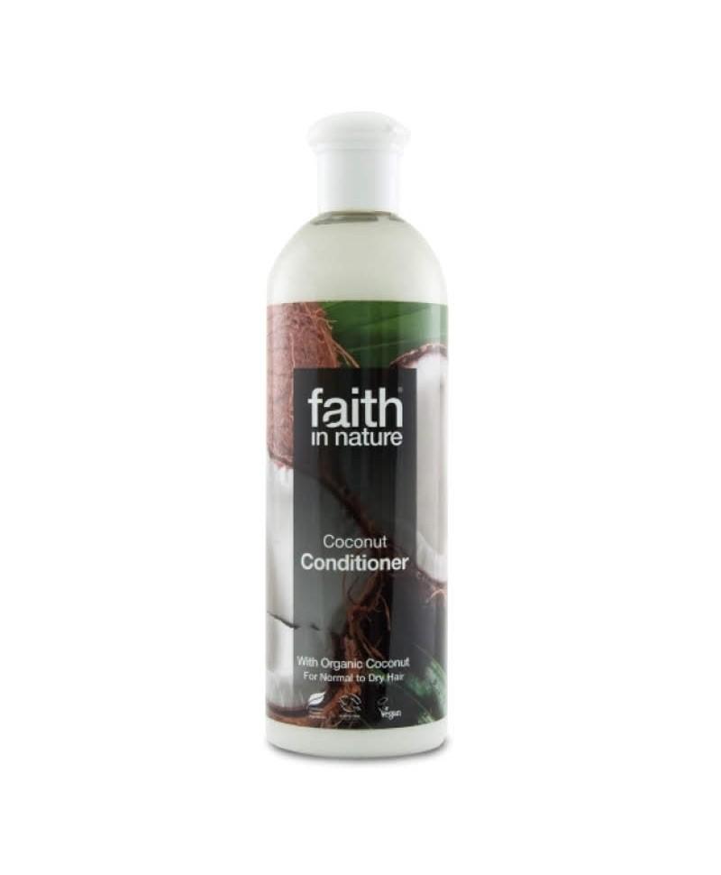 Balsam de Par cu Cocos, Pentru Par Normal sau Uscat, 400 ml, Faith in Nature