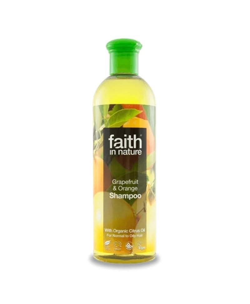 Sampon cu Grapefruit şi Portocale, Pentru Păr Normal sau Gras, 400 ml, Faith in Nature