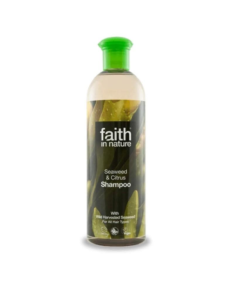 Sampon cu Alge Marine şi Citrice, Pentru Toate Tipurile de Păr, 400 ml, Faith in Nature