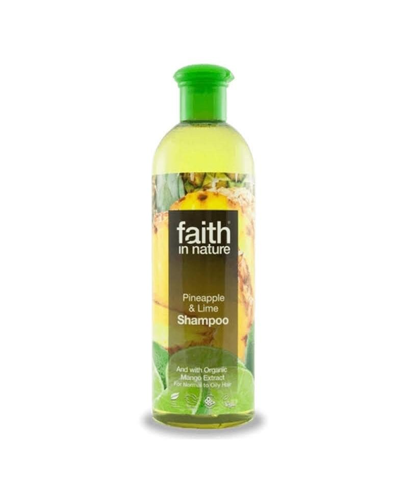 Sampon cu Ananas şi Lime, Pentru Păr Normal sau Gras, 400 ml, Faith in Nature