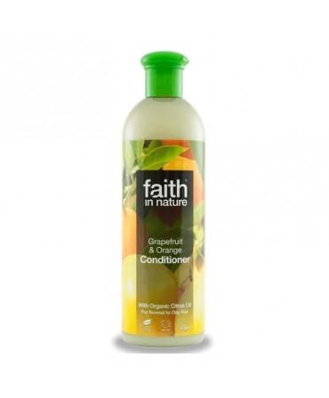 Balsam de Par cu Grapefruit şi Portocale, Pentru Păr Normal sau Gras, 400 ml, Faith in Nature