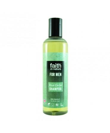 Sampon Barbati cu Cedru Albastru, Pentru Toate Tipurile de Păr, 250 ml, Faith in Nature