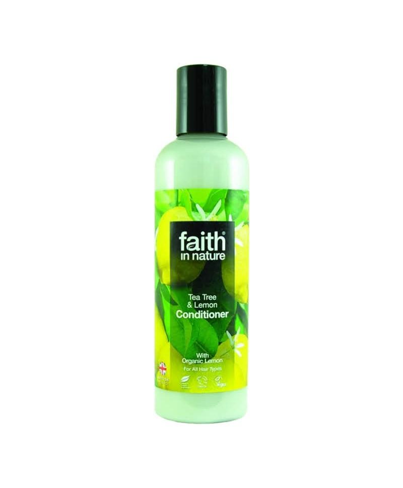 Balsam de Par cu Lamaie şi Tea Tree, Pentru Toate Tipurile de Păr, 250 ml, Faith in Nature