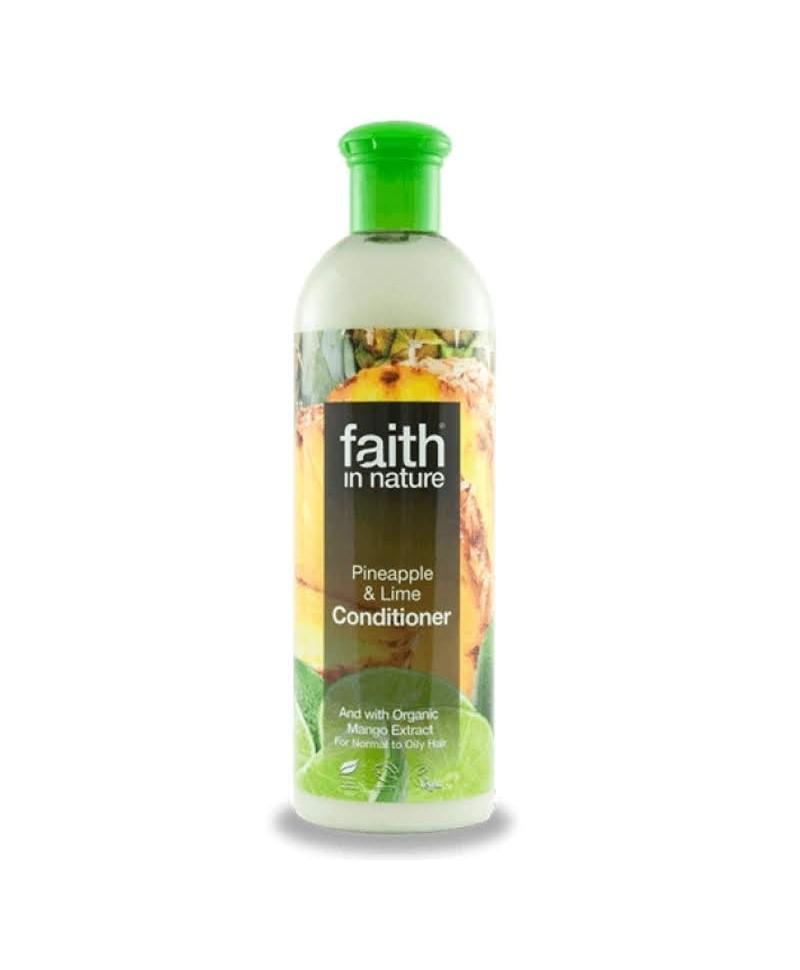 Balsam de Par cu Ananas şi Lime, Pentru Păr Normal sau Gras, 400 ml, Faith in Nature