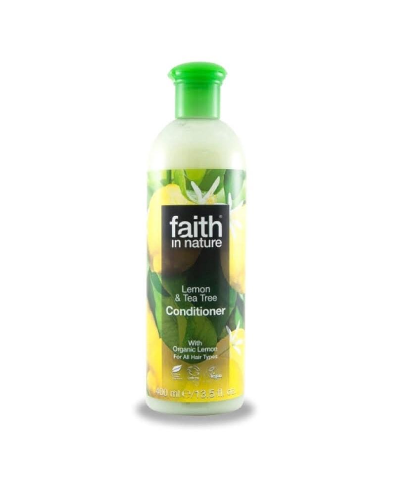 Balsam de Par cu Lamaie și Tea Tree, Pentru Toate Tipurile de Păr, 400 ml, Faith in Nature