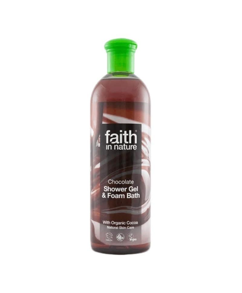 Gel de Dus şi Spumă de Baie cu Ciocolată, 400 ml, Faith in Nature