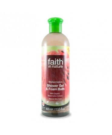 Gel de Duș şi Spumă de Baie cu Pepene, 400 ml, Faith in Nature