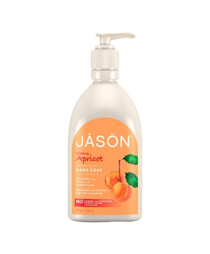Sapun Lichid cu Caise, Hidratant Pentru Față și Mâini, 473 ml, Jason