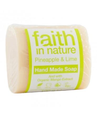 Sapun Solid cu Ananas şi Lime, 100 g, Faith in Nature