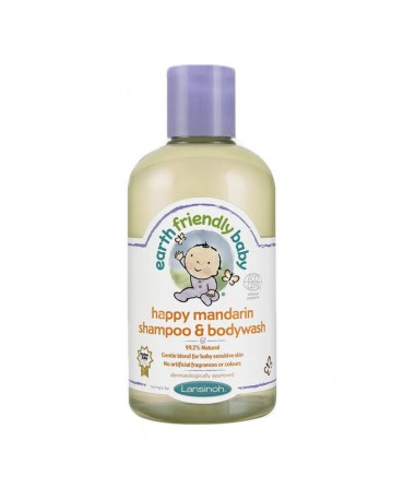 Sampon Si Gel De Dus Organic Cu Ulei De Mandarine, 250 ml, Earth Friendly Baby