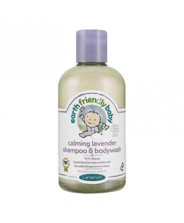 Sampon Și Gel De Dus Organic Cu Levănțică, 250 ml, Earth Friendly Baby
