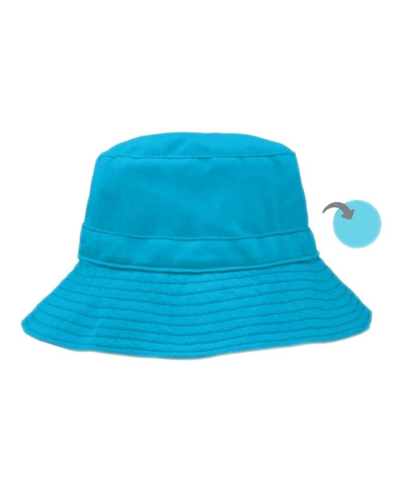 Pălărie de Soare Pentru Copii SPF 50+, Reversibilă, Aqua/Light Aqua, iPlay
