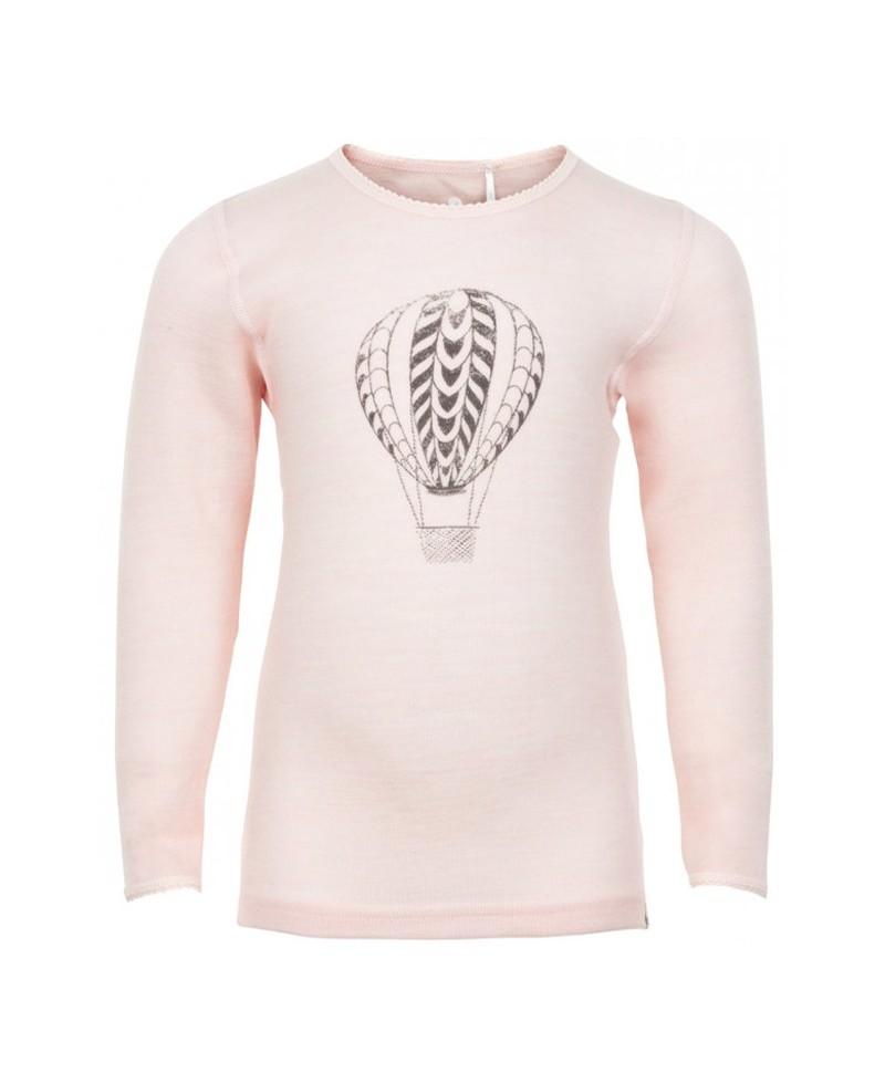 Bluza din Lana Merinos, Roz cu balon, Celavi